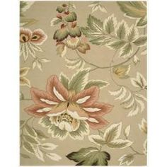 @Overstock - This beautiful transitional rug is meticulously crafted with hand-hooked yarns for additional texture and dimension. Enchanting designs and green, pink, beige, ivory and red hues come together to create a magical ambiance for any interior.http://www.overstock.com/Home-Garden/Hand-hooked-Fantasy-Beige-Rug-8-x-106/6827972/product.html?CID=214117 $328.69