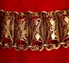 Antique  FILIGREE WOMANS BRACELET by Glorypast on Etsy