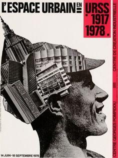 Œuvre reproduite : Alexandre Rodtchenko, photographie - Conception graphique : Roman Cieslewicz © Centre Pompidou, 1978