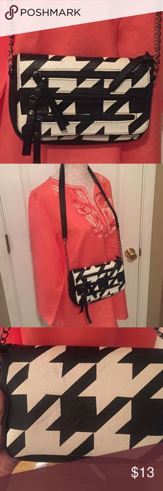 """Xhilaration cross body bag Never used. Three zippers on front for looks only. One functional zipper pouch inside. Measures 8.5"""" X 5"""" Xhilaration Bags Crossbody Bags"""