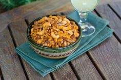 This paleo snack mix is addictive. Salty, smoky and garlicky, it reminds me of traditional snack mix, but without the not-so-desirable ingredients. Just pure nutty goodness accented with garlic infused olive oil and smoked spices. Dairy Free Keto Recipes, Paleo Recipes Easy, Whole Food Recipes, Gluten Free, Free Recipes, Yummy Recipes, Recipies, Savoury Recipes, Whole30 Recipes