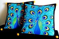 Peacock cushions