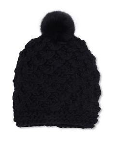 4da46934765 36% OFF Vince Camuto Women s Tuck Stitch Crochet Hat (Black)