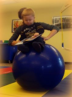 40 Best Therapy Ball Fun Images Autism Gross Motor