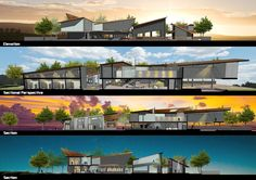 a cultural park design. cycle of a day. #architecture #section #elevation