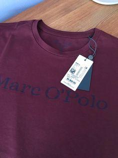 9758334767 Pánské basic tričko Marc O Polo vínové