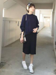 浅倉 まいさんの「TIGHT KNIT SKIRT(CLANE|クラネ)」を使ったコーディネート