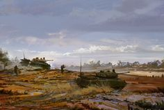 Brush Tanks by Eric Elwell on ArtStation. Writing Games, Fantasy Fiction, Fiction Writing, Concept Art, Clouds, Digital, 2d, Tanks, Artwork