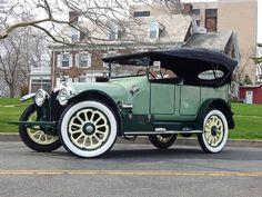 1912 Reo Touring Car White Fvr By Pat Durkin Orange