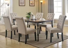 Black Dining Room Decor ideas - How can I decorate my dining room table when not in use? Black Dining Room Decor ideas - What is the modern color for living room? Metal Leg Dining Table, Gray Dining Chairs, Dining Chair Set, Side Chairs, Dining Bench, Dining Room Sets, Oak Dining Sets, Dining Room Table, Acme Furniture