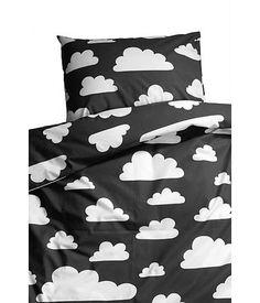 Farg Form dekbedovertrek wolken zwart