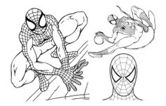 Spiderman All Face Coloring