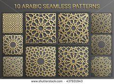 Islamic seamless pattern , arabic geometric east ornament , persian motif .