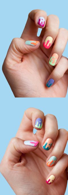 Color drip nails are awsome ! You can watch a tutorial on how to do them on youtube. Just search cutepolish :)