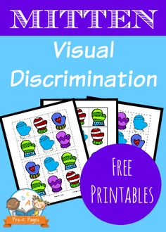 Mitten Visual Discrimination Printable