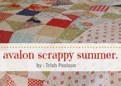Avalon Scrappy Summer Quilt