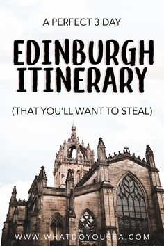 Headed to Edinburgh for a weekend? This incredible Edinburgh itinerary will maximize your 3 days in Edinburgh and take you through the heart of Scotland. Edinburgh Travel, Scotland Travel, Ireland Travel, Edinburgh Scotland, Scotland Trip, Edinburgh Tours, Best Of Scotland, Galway Ireland, Cork Ireland