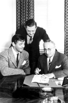 Clark Gable, Louis B Mayer and David O Selznick Louis B Mayer, David O Selznick, It Happened One Night, Family Feud, Clark Gable, Paul Newman, Dee Dee, Gone With The Wind, First Night