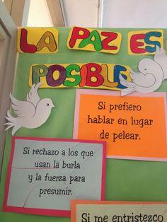 MI MOCHILA: CELEBRAMOS EL DÍA DE LA PAZ School Decorations, Spanish Class, Back To School, Origami, Teacher, Logos, Creative Things, Creativity, Group Art Projects