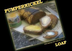 Sweet and That's it: Pumpernickel Loaf - Pane di Segale e Carvi Baking With Julia, Your Recipe, Mondays, Yummy Food, Bread, Sweet, Recipes, Mexico, Candy