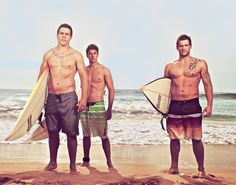 Home & Away hunks - The Braxton Brothers! (Steve Peacocke, Lincoln Younes and Dan Ewing)