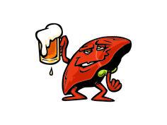 cartoon drinking liver