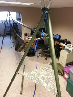 Another version of the Aluminum Surplus Military Pole Stand - Hammock Forums - Elevate Your Perspective