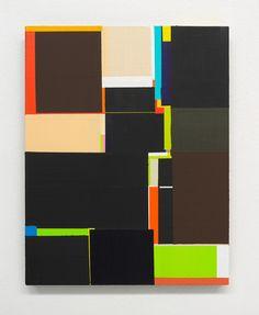 "Richard Schur [Germany] (b 1971) ~ ""Fleur Du Mal Study"", 2011. Acrylic on panel (41 x 30 cm). | #art #painting #abstract #hardedge #minimalart"