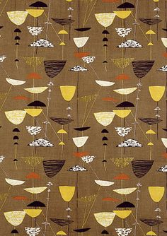 lucienne day textiles, just seen at Fashion and Textile museum,