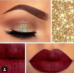#makeup #golden #glitter #pretty