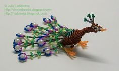 Beading for beginners: peacock in 3-D beading