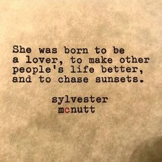 she was born to