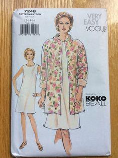 Tunic Dress Patterns, Vogue Dress Patterns, Vogue Sewing Patterns, Shirt Jacket, Jacket Dress, Jumpsuit Pattern, Oversized Shirt, Clothing Items, Size 12