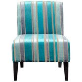 Shop this cyan design ms. stripy blu accent chair from our top selling Cyan Design living room chairs. LuxeDecor is your premier online showroom for living room furniture and high-end home decor. Teal Chair, Turquoise Chair, Turquoise Furniture, Armless Accent Chair, Accent Chairs For Sale, Striped Chair, Living Room Seating, Living Area, Swinging Chair