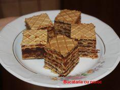 Prajitura cu foi de napolitana - Bucataria cu noroc Waffles, Breakfast, Food, Sweets, Morning Coffee, Essen, Waffle, Meals, Yemek