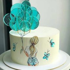 Cake Decorating Frosting, Creative Cake Decorating, Cake Decorating Videos, Birthday Cake Decorating, Creative Cakes, Creative Birthday Cakes, Candy Birthday Cakes, Elegant Birthday Cakes, Beautiful Birthday Cakes