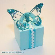 Box mit Schmetterling