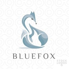 blue fox by NancyCarterDesign