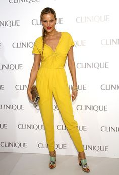 Petra Nemcova's Sunshine Yellow Jumpsuit