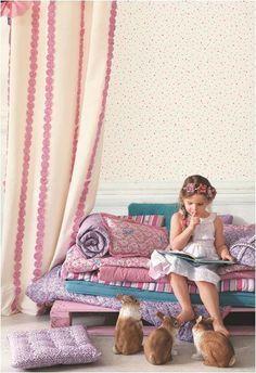 Abracadabra. Colección infantil de papeles pintados y textiles de Camengo.