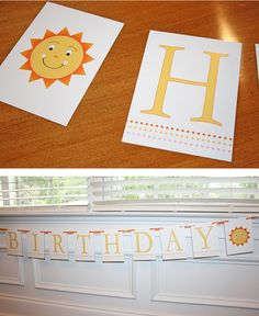 you are my sunshine birthday banner