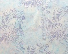 Light Blue Purple Leaves Quilter's Weight Cotton Batik Fabric - One Yard - Yardage - By the Yard by SuchPrettySupplies on Etsy
