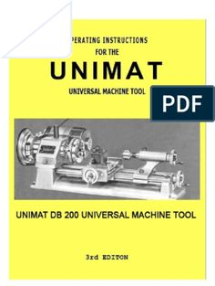 The Book of the Unimat Wooden Gear Clock, Wooden Gears, Machine Tools, Mechanical Engineering, The Book, Industrial, Pdf, Workspaces, Books