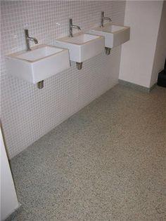 geblokte vloer (oude website mozaiek) | mozaiek | jaren 20, Badkamer