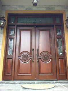 Custom Made Entry Holztüren, Main Entrance Door Design, House Main Door Design, Front Door Design Wood, Door Glass Design, Wood Entry Doors, Front Door Design