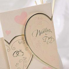 Pretty Heart Design Wedding Invitation (Set of 50) – AUD $ 47.21