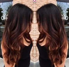 ombre hair Shadow Hair Trend New: Models to Immediately # Brown Hair Shades, Brown Ombre Hair, Ombre Hair Color, Brown Hair Colors, Brown Hair With Red Highlights, Auburn Highlights, Reddish Brown Hair, Balliage Hair, Trends 2016