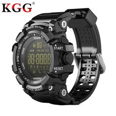 Discount Up to CHIGU Bluetooth Smart Watch Notification Remote Control Pedometer Sport Watch Waterproof Men& Wristwatch Smartwatch Waterproof, Rugged Watches, Bluetooth, Calorie Calculator, Mens Sport Watches, Aster, Casio Watch, Smart Watch, Men's Watches