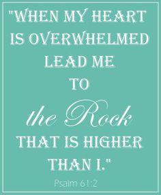 Psalm 61:2           Heart & Soul