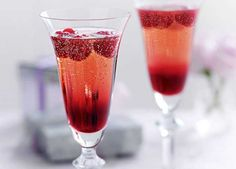 A sparkling cocktail with a raspberry twist… perfect for that special toast.